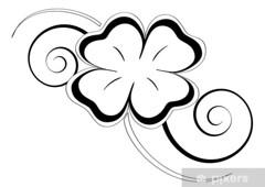 GFJ04030 VINIL HOGAR TREBOL DE CUATRO HOJAS (Galeria Zullian & Trompiz) Tags: quadrifoglio fortuna portafortuna simbolo stilizzato tatuaggio nero floreale decorazione forma astratto disegno vettoriale foglie natura pianta linee curve spirali intreccio