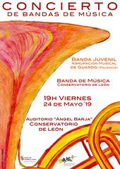 CONCIERTO DE BANDAS DE MÚSICA - BANDA JUVENIL AGRUPACIÓN MUSICAL DE GUARDO (PALENCIA) & BANDA DE MÚSICA DEL CONSERVATORIO DE LEÓN - VIERNES 24 DE MAYO´19 - AUDITORIO