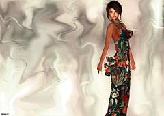 Spring (kare Karas) Tags: woman lady femme girl girly sweet cute beauty elegance sensual seductive seduce fashion mesh colors hud event spring gown fun virtual avatar secondlife may bento jumo senseevent