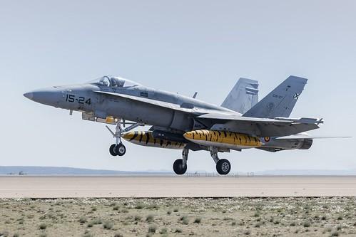 Los F-18 del Ala 15 parten hacia el Tiger Meet