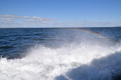 Wave Rainbow (antinee) Tags: wave bluesky water rainbow spectrum light sea blue outdoors