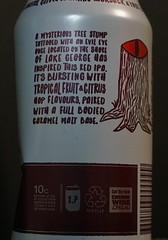 A mystreious tree stump beside Lake George (spelio) Tags: wine label beer ipa red local