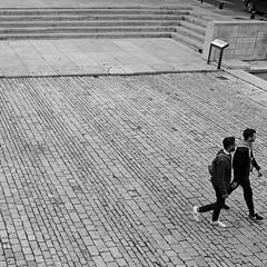 Getting out of the frame (lesphotosdepatrick) Tags: streetphotography blackandwhitephotography candidshot acrosfilm x100f fujifilm fujixlovers gard gardtourisme sortirducadre