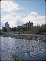 (selfoxide) Tags: 6x45 bronicarf645 cityscape color film fujireala100 mediumformat