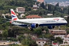 British Airways G-NEOU 18-5-2019 (Enda Burke) Tags: cfu corfu greece lgkr avgeek aviation airplane airport arrival airbus a321 airbusa321 airbusa321neo a321neo ba britishairways canon canon7dmk2 greek landing runway travel