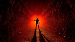 What's lying beneath... (palateth) Tags: lightpainting lightart night nophotoshop singleexposure urbex abandonnedplace backlight tunnel underworld