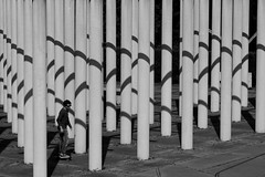 out of order (Wackelaugen) Tags: columns shadow stuttgart killesberg germany canon eos photo photography stephan wackelaugen black white bw blackwhite blackandwhite mono noiretblanc schwarz weis schwarzweis