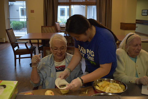 Making an Apple Pie at the Nursing Home