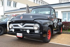 Ford F100 (Monde-Auto Passion Photos) Tags: voiture vehicule auto automobile ford f100 pickup noir black ancienne classique rare rareté collection rassemblement france courtenay