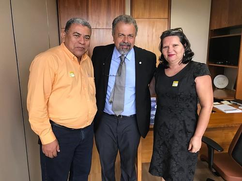 Presidente do PSB Valparaiso (Antônio Reis) e educadora (Iraci Fagundes)