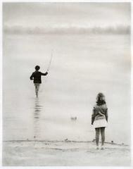Fishing (bromoil) (Alexander Tkachev) Tags: alternativephotography altprocess bromoil blackwhite fomabrom113bo kids fishing ukraine alexandertkachev