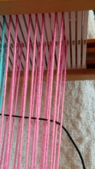 At times it is necessary to go under selvedge end on either side of warp to include selvedge (Sweet Annie Woods) Tags: