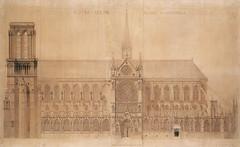 Notre Dame 04 (Chris Protopapas) Tags: paris france cathedral architecture drawing gothic notredame notredamedeparis facade violetleduc