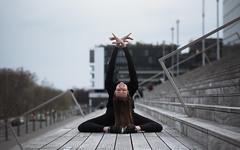 (dimitryroulland) Tags: nikon d750 85mm 18 dimitryroulland paris france natural light flexible people flexibility stairs gymnast gymnastics gym fit split performer art artist