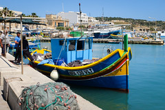 Fishing boats at Marsaxlokk harbour. (ho_hokus) Tags: 2019 europe fujix20 fujifilmx20 malta malte marsaxlokk mediterranean boat boats fishing fishingboat harbor harbour sea