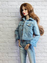 Judy in jeans (Levitation_inc.) Tags: ooak doll dolls clothes nuface integrity toys rayna jeans outfit casual denim handmade fashion levitation levitationfashion