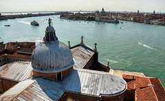 San Giorgio View (henriksundholm.com) Tags: church basilica sangiorgiomaggiore landscape daylight sunlight dome sculpture statue roof ceiling tower horizon city urban cityscape skyline hdr venice italy