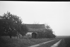Cellar house (verblickt) Tags: cellarhouse weinviertel springtime greyscale fp4 film blackandwhite baldarollbox outside nature art absoluteblackandwhite analog countryside