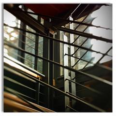 Geometry - Stairs (Miss Tebaldi) Tags: stair steelandwood brownstairs scale geometryinside