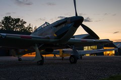 Hawker Hurricane (Sébastien Locatelli) Tags: sébastienlocatelli 2019 canon eos 80d ef 70300mm f456 l is usm shuttleworth collection evening airshow plane aircraft airplane propeller