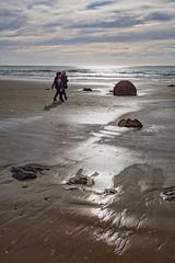 "Strolling the Dunedin Boulders (""Jimmer"" ( http://jim-vance.pixels.com )) Tags: dunedin newzealand figures travel beach boulders seascape"