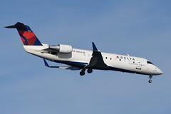 Delta Connection (Endeavor Air) - Bombardier (Canadair) CRJ-200 (CL-600-2B19) - N8683B - John F. Kennedy International Airport (JFK) - February 19, 2019 143 RT CRP (TVL1970) Tags: nikon nikond7200 d7200 nikongp1 gp1 geotagged nikkor70300mmvr 70300mmvr aviation airplane aircraft airlines airliners johnfkennedyinternationalairport kennedyairport jfkairport jfkinternational jfk kjfk bayswaterpark n8683b deltaconnection delta deltaairlines endeavorair pinnacleairlines pinnacle northwestairlink northwest nwa bombardieraerospace bombardier bombardiercrj200 bombardiercrj canadair challenger cl600 cl6002b19 crj crj200 regionaljet generalelectric ge cf34 cf343b1