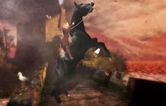 RIDER (Rachel Swallows Inworld Elenamicheals Core) Tags: enchantmentevent haveunequal hu maitreya gameofthrones waterhorse leather fashion medieval fantasy elven dragonqueen dragon