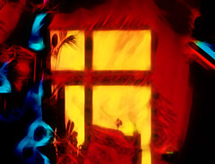 The Attic (Wim Koopman) Tags: bright intense color digital painting drawing surreal surrealistic abstract yellow black blue red