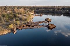 sunken ships, Prypjat (maecces) Tags: lost urbex abandoned sunken ships lostplace ukraine tschernobyl prypjat drohne drohenfotografie luftbild landschaft dji mavicair exclusionzone