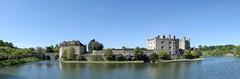 Panorama Of Leeds Castle (Skyline:)) Tags: panorama flickrfriday leedscastle moat water castle architecture bluesky oldbuilding bui old kent uk