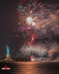 Statue Of Liberty Fireworks-1-5 (bkrieger02) Tags: fireworks fireworksphotography nightphotography longexposure statueofliberty libertyisland ellisisland hudsonriver brooklyn louisvalentinojrpark redhook nyc newyorkcity colors colorful waterreflections reflections canonusa teamcanon 7dmkii sigma sigmaart artlens 24105