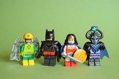 Superhero People (th_squirrel) Tags: lego dc comics kite man thomas wayne batman wonder woman doctor polaris brickarms minifig minifigure minifigs minifigures