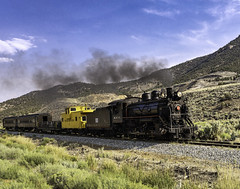 02469376422489-112-19-05-Iron Horse-9 (You have failed me for the last time Jim) Tags: america ely nevada nevadanorthernrailwaymuseum southwest train usa whitepinecounty history locomotive museum rail smoke steam