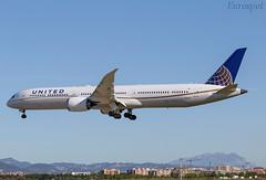 N16008 Boeing 787 United (@Eurospot) Tags: n16008 boeing 787 787x united lebl barcelona