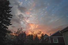 Our home (RdeUppsala) Tags: uppsala uppland sky sverige sweden sunset atardecer ricardofeinstein suecia moln nubes cielo clouds himmel