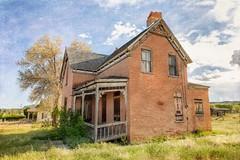 Forgotten (KPortin) Tags: htt texture lenabemanna abandonedhouse saggingporch windows escalanteutah
