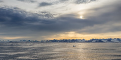 Denmark Strait - outside the ice; nameless peaks and mountains inshore. (apcmitch) Tags: sailing sea mountains glaciers icebergs ice greenland eastgreenland2014 dolphin sonya7 seascape