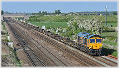 66719 Brumber Hill 14 05 2019 (Mark's Train pictures) Tags: class66 gbrf gbrailfreight gbrf66 gbrfclass66 class66shed burmahill intermodal intermodalrail railfreight freight freighttrain 66719 4z79