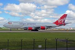 G-VROY 2 Boeing 747-443 Virgin Atlantic Airways MAN 21MAY19 (Ken Fielding) Tags: gvroy boeing b747443 virginatlanticairways aircraft airplane airliner jet jetliner jumbojet widebody