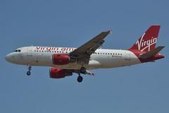 N530VA (LAXSPOTTER97) Tags: n530va virgin america alaska airlines airbus a319 a319100 cn 3686 aviation airport airplane kpdx