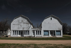 The twins are still standing (oldogs) Tags: generalstore barn architecture ghosttown jayem wyoming relic