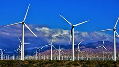 Desert Energy (angelakenny1) Tags: windturbines desertenergy renewableenergy desertclouds clouds desert desertstorm palmsprings