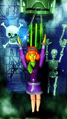OH NO. Guys you're never going to believe this but Daphne's been captured. (custombase) Tags: scoobydoo figures daphne blake captured dungeon velma dinkley skeleton mysteryinc toyphotography diorama