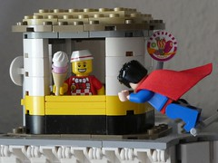 Fly-In Ice Cream Shack (captain_joe) Tags: toy spielzeug 365toyproject lego minifigure minifig icecream eis superman