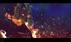 Reign of Fire (Ranmyaku Haiku) Tags: peace chaos rp roleplay devil demon hell hellfire secondlife lynnea king hail burn fire body night nether mask