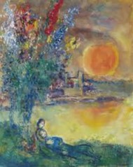 Lune rousse au cap d'Antibes (Chagall) (photopoésie) Tags: chagall 1969