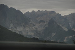 Carrara quarries (Elizabeth Almlie) Tags: italy carrara marble quarries highway