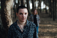 Amaïlys and Gwenaëlle. (Nicolas Fourny photographie) Tags: canon eos3 35mm models beauty portrait portraiture womenportraits duo friends naturallight spring grain bokeh dof depthoffield analogcamera analogphotography film filmisnotdead girlsportraits trees nature forest beautifulgirls beautifulwomen 50mm kodak portra400