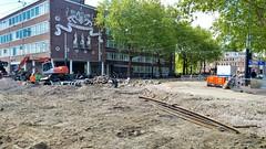 Bij de Politie (Peter ( phonepics only) Eijkman) Tags: amsterdam city detour omleiding wegwerkzaamheden roadworks tram transport trams tramtracks trolley rail rails strassenbahn streetcars nederland netherlands nederlandse noordholland holland gvb