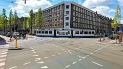 Bocht Pakkend. (Peter ( phonepics only) Eijkman) Tags: amsterdam city bn trapkar detour omleiding gvb tram transport trams tramtracks trolley rail rails strassenbahn streetcars netherlands nederland nederlandse noordholland holland